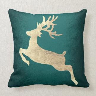 Reindeer Champaign Green Cali Greenery Woodland Cushion