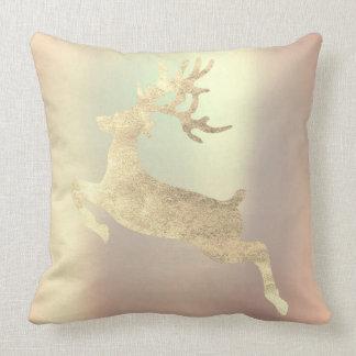 Reindeer Champaign Pink Rose Gold Blush Powder Cushion