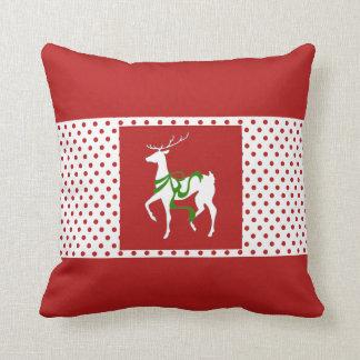 Reindeer Cheer Christmas Throw Pillow
