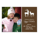 Reindeer Christmas Card (Happy Christmas Brown) Invitation