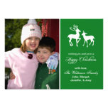 Reindeer Christmas Card (Happy Christmas Green) Announcements