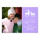 Reindeer Christmas Card Happy Christmas (Violet) Invitation