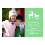 Reindeer Christmas Card (Happy Holidays Mint Green
