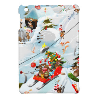 Reindeer Christmas Fun iPad Mini Cases