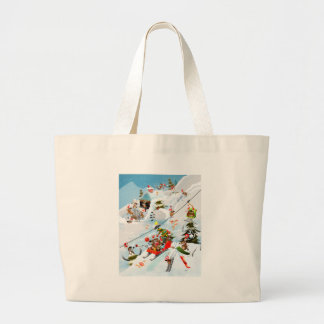 Reindeer Christmas Fun Large Tote Bag