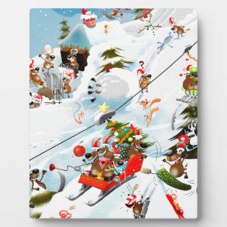 Reindeer Christmas Fun Plaque