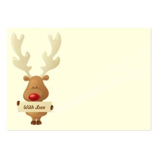 Reindeer Christmas gift tag Business Card Templates