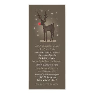 Reindeer Christmas Invitation
