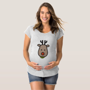Reindeer Christmas Maternity T-Shirt