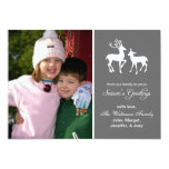 Reindeer Christmas (Season's Greetings Grey) Personalized Announcements