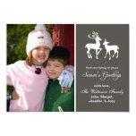Reindeer Christmas (Season's Greetings Grey) Invitation