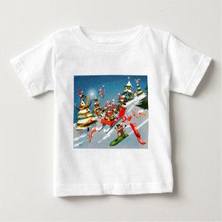 Reindeer Christmas sleigh ride Baby T-Shirt