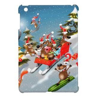 Reindeer Christmas sleigh ride Cover For The iPad Mini