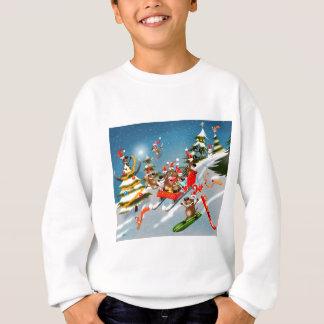 Reindeer Christmas sleigh ride Sweatshirt