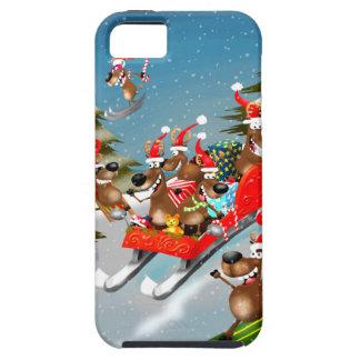 Reindeer Christmas sleigh ride Tough iPhone 5 Case