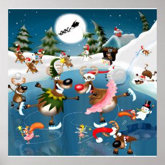 Reindeer Christmas Wonderland Poster