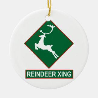 Reindeer Crossing Ornament