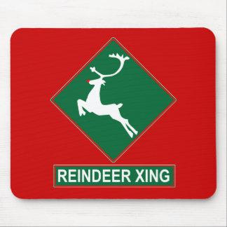 Reindeer Crossing X-mas Colors Mousepad