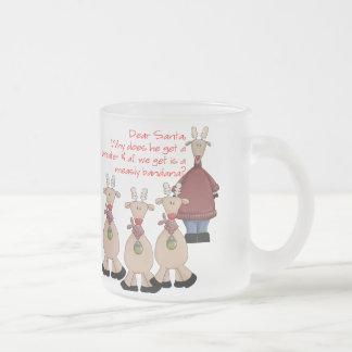 Reindeer Dear Santa Shirt Frosted Glass Mug
