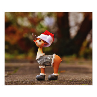 Reindeer decorations - christmas reindeer photo print