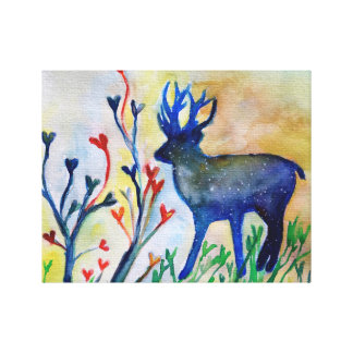 Reindeer Deer Love Heart Magic Watercolor Print