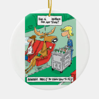 Reindeer DO know how to fly! Christmas Ornament