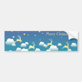 Reindeer dream sticker bumper sticker