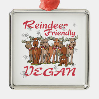 Reindeer Friendly Vegan Ornament
