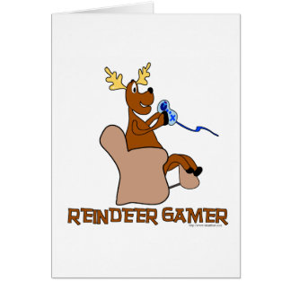 Reindeer Gamer Card