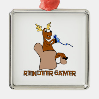 Reindeer Gamer Deluxe Christmas Ornament