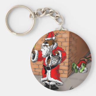 Reindeer games 4 basic round button key ring