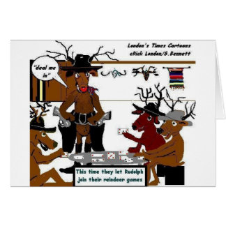 Reindeer games gifts t shirts art posters other gift for Funny reindeer christmas cards