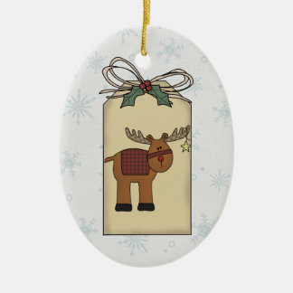Reindeer Gift Tag Ornament