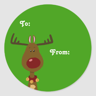 Reindeer Gift Tags Sticker