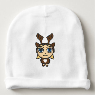 Reindeer Girl Cartoon Character Baby Beanie