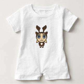 Reindeer Girl Cartoon Character Baby Romper Baby Bodysuit