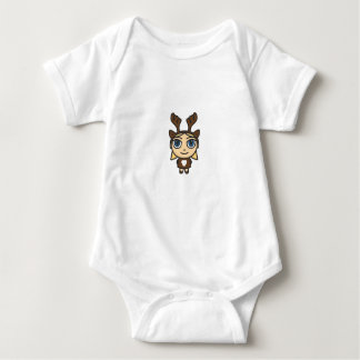 Reindeer Girl Cartoon Creeper/Babygro Baby Bodysuit