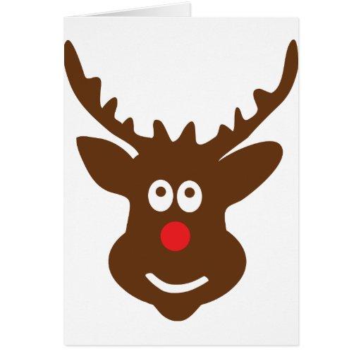 reindeer head antler card