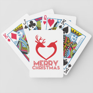 Reindeer Heart Bicycle Playing Cards