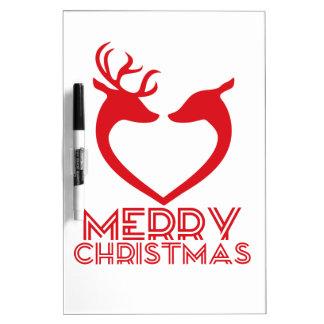 Reindeer Heart Dry Erase White Board