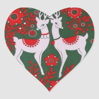 Reindeer Heart Sticker
