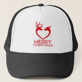 Reindeer Heart Trucker Hat