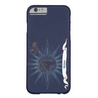 Reindeer Holiday Christmas Blue Art Illustration Barely There iPhone 6 Case