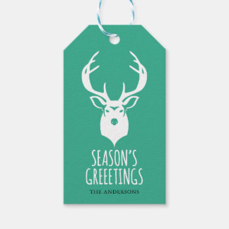 Reindeer Holiday Gift Tag