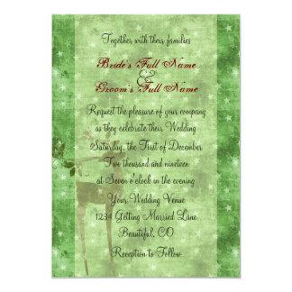 Reindeer Holiday Winter Wedding Invitation