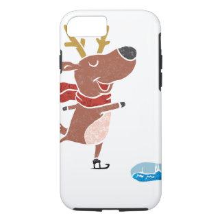 Reindeer ice skate iPhone 7 case
