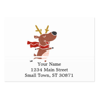 Reindeer ice skate pack of chubby business cards