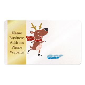 Reindeer ice skate pack of standard business cards