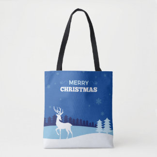 Reindeer illustration Christmas bags