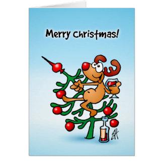 Reindeer in a Christmas tree Greeting Card